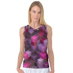 Cube Surface Texture Background Women s Basketball Tank Top