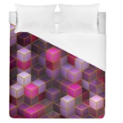 Cube Surface Texture Background Duvet Cover (queen Size)