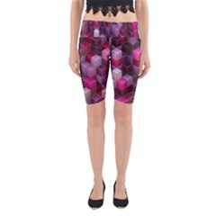 Cube Surface Texture Background Yoga Cropped Leggings