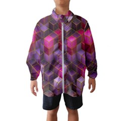 Cube Surface Texture Background Wind Breaker (kids)