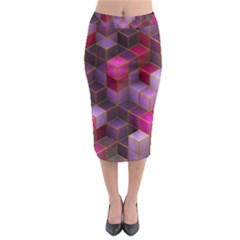 Cube Surface Texture Background Midi Pencil Skirt