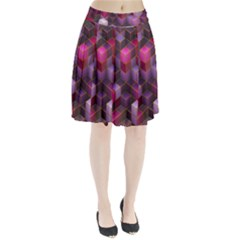 Cube Surface Texture Background Pleated Skirt