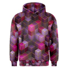 Cube Surface Texture Background Men s Overhead Hoodie