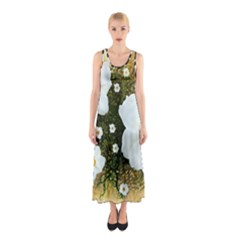 Summer Anemone Sylvestris Sleeveless Maxi Dress