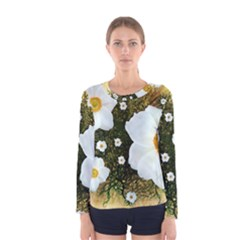 Summer Anemone Sylvestris Women s Long Sleeve Tee