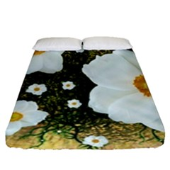 Summer Anemone Sylvestris Fitted Sheet (queen Size)