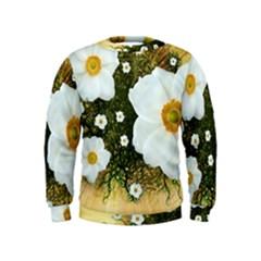 Summer Anemone Sylvestris Kids  Sweatshirt