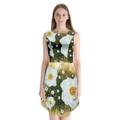 Summer Anemone Sylvestris Sleeveless Chiffon Dress   by Nexatart