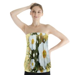 Summer Anemone Sylvestris Strapless Top by Nexatart
