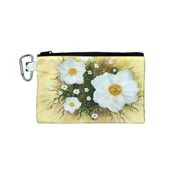 Summer Anemone Sylvestris Canvas Cosmetic Bag (small)