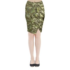 Seamless Repeat Repetitive Midi Wrap Pencil Skirt