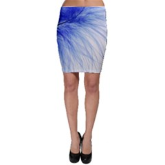 Feather Blue Colored Bodycon Skirt