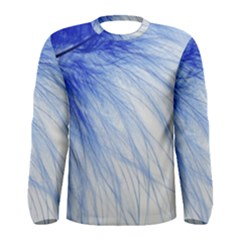 Feather Blue Colored Men s Long Sleeve Tee