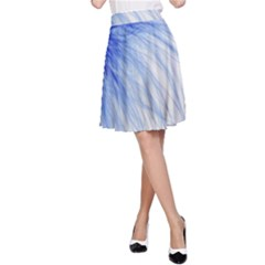 Feather Blue Colored A Line Skirt