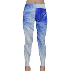 Feather Blue Colored Classic Yoga Leggings