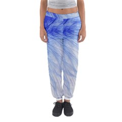 Feather Blue Colored Women s Jogger Sweatpants