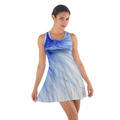 Feather Blue Colored Cotton Racerback Dress