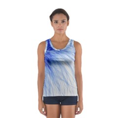 Feather Blue Colored Sport Tank Top