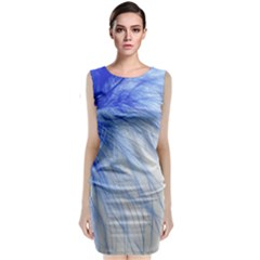 Feather Blue Colored Classic Sleeveless Midi Dress by Nexatart
