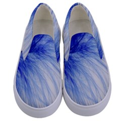 Feather Blue Colored Kids  Canvas Slip Ons
