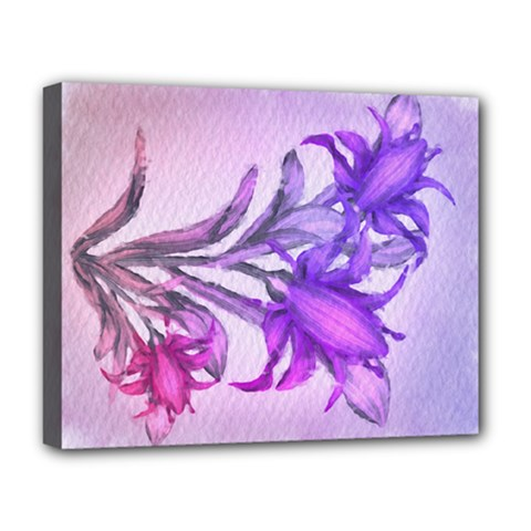 Flowers Flower Purple Flower Deluxe Canvas 20  X 16