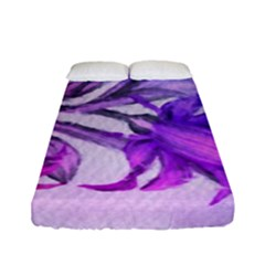 Flowers Flower Purple Flower Fitted Sheet (full/ Double Size) by Nexatart