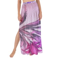 Flowers Flower Purple Flower Maxi Chiffon Tie Up Sarong