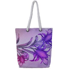 Flowers Flower Purple Flower Full Print Rope Handle Tote (small)