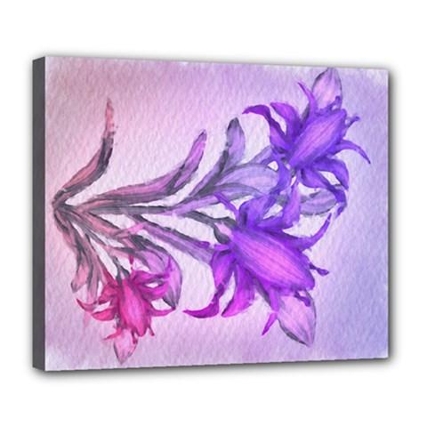 Flowers Flower Purple Flower Deluxe Canvas 24  X 20
