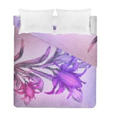 Flowers Flower Purple Flower Duvet Cover Double Side (full/ Double Size) by Nexatart