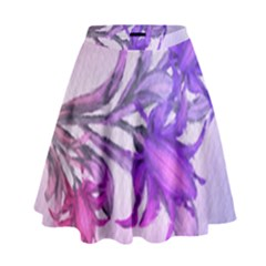 Flowers Flower Purple Flower High Waist Skirt