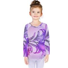 Flowers Flower Purple Flower Kids  Long Sleeve Tee