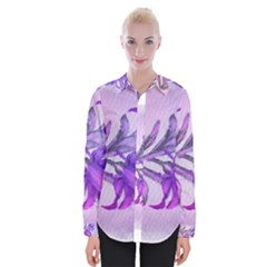 Flowers Flower Purple Flower Womens Long Sleeve Shirt