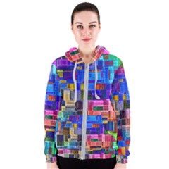 Background Art Abstract Watercolor Women s Zipper Hoodie