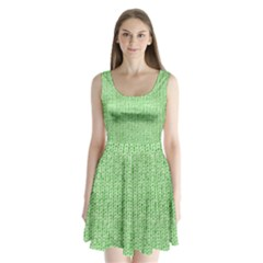 Knittedwoolcolour2 Split Back Mini Dress