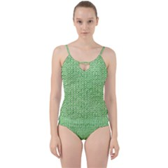 Knittedwoolcolour2 Cut Out Top Tankini Set