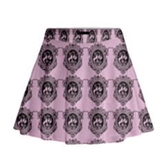 Three Women Pink Mini Flare Skirt