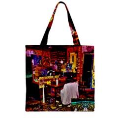 Home Sweet Home Zipper Grocery Tote Bag