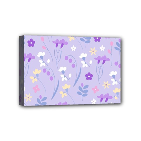 Violet,lavender,cute,floral,pink,purple,pattern,girly,modern,trendy Mini Canvas 6  X 4  by 8fugoso