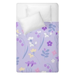 Violet,lavender,cute,floral,pink,purple,pattern,girly,modern,trendy Duvet Cover Double Side (single Size) by 8fugoso