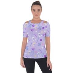Violet,lavender,cute,floral,pink,purple,pattern,girly,modern,trendy Short Sleeve Top by 8fugoso