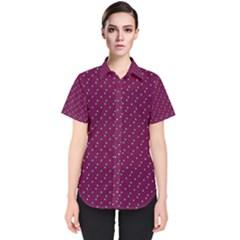 Pink Flowers Magenta Women s Short Sleeve Shirt
