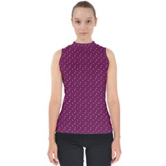 Pink Flowers Magenta Shell Top