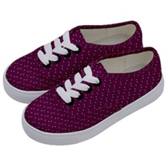 Pink Flowers Magenta Kids  Classic Low Top Sneakers by snowwhitegirl