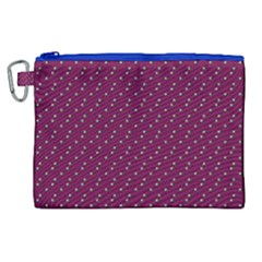 Pink Flowers Magenta Canvas Cosmetic Bag (XL)