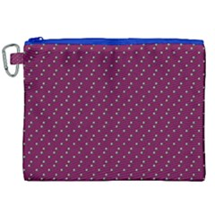 Pink Flowers Magenta Canvas Cosmetic Bag (XXL)