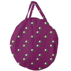 Pink Flowers Magenta Big Giant Round Zipper Tote by snowwhitegirl