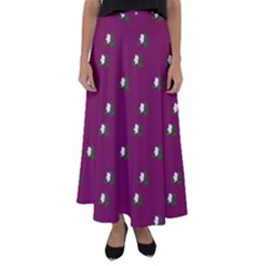 Pink Flowers Magenta Big Flared Maxi Skirt by snowwhitegirl