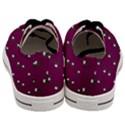 Pink Flowers Magenta Big Men s Low Top Canvas Sneakers View4