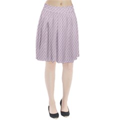 Pink Flowers Pink Pleated Skirt